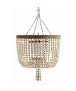 BEADED 4 Light Pendant Chandelier, Antique Bras... - $2,519.00