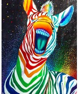 12x16 Rainbow zebra  - €91,07 EUR