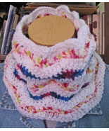 Cowl/Waves of Color/Crocheted by Mandolin Babe!/Neckwarmer - $19.95