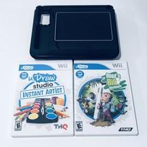 Nintendo Wii uDraw Studio Game Tablet Controller Drawing & 2 Games Bundl... - $24.14