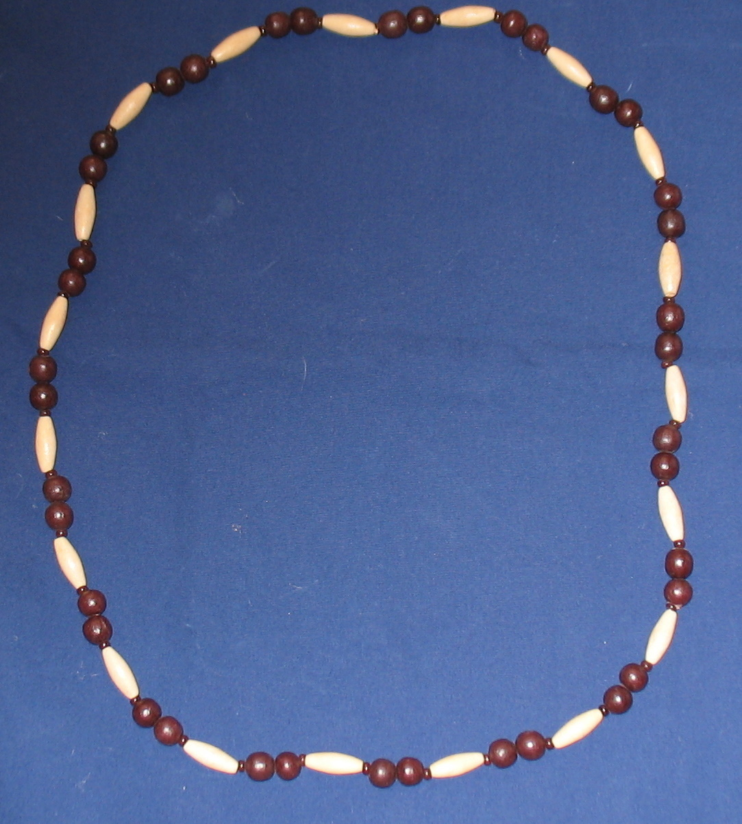 Vintage Browns Wood Beaded Necklace