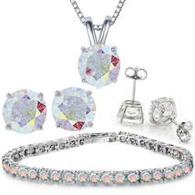 Jewelry Necklace & Bracelet Aurora Borealis Crystal Bead 2 Piece Set - $14.69