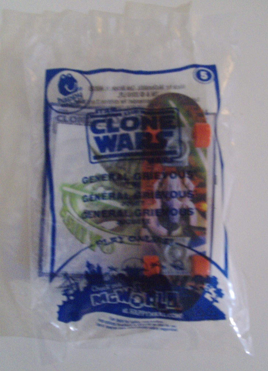 Star Wars the Clone Wars General Grievous & Asajj Ventress McDonald's toys - New