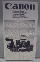 Vintage Canon Camera Products Guide dq - $4.94