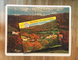 "Vintage 50s Tuco Interlocking Picture Puzzle- #5980B ""Indian Summer""  image 2"