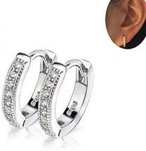 IminiJewelry Dainty Cubic Zirconia Small Huggie Hoop Earrings For Women Teen - $30.40