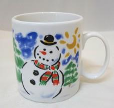 Studio Nova Christmas MZ462 Snowman & Church Mini Mug Childrens Hot Choc... - $18.32