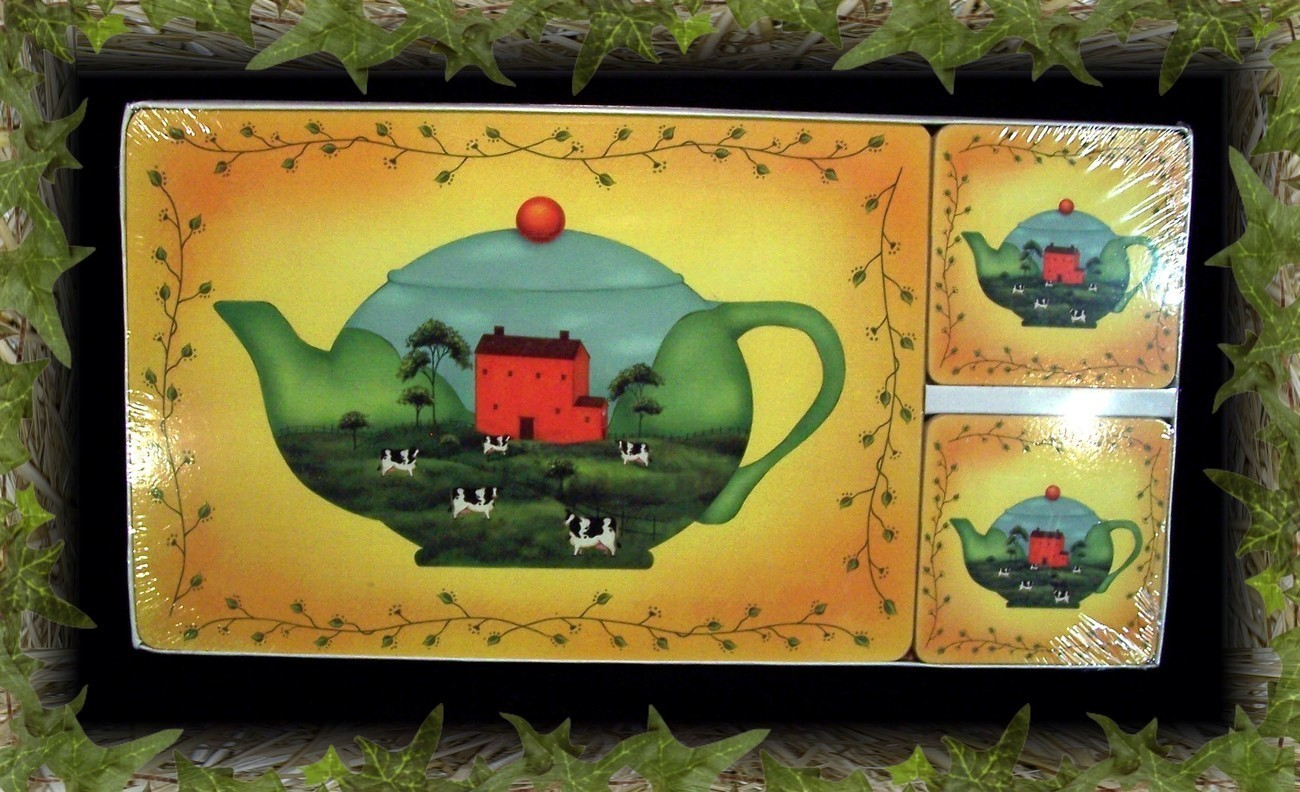 Primary image for Country Primitive Teapot Saltbox House Hot Pad/Coaster