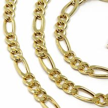 18K YELLOW GOLD CHAIN BIG 5 MM ROUNDED FIGARO GOURMETTE ALTERNATE 3+1, 24 INCHES image 3