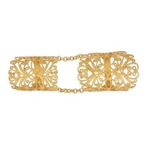 18K Yellow Gold Plated 925 Sterling Silver Long Midi Finger Knuckle Ring... - $34.00