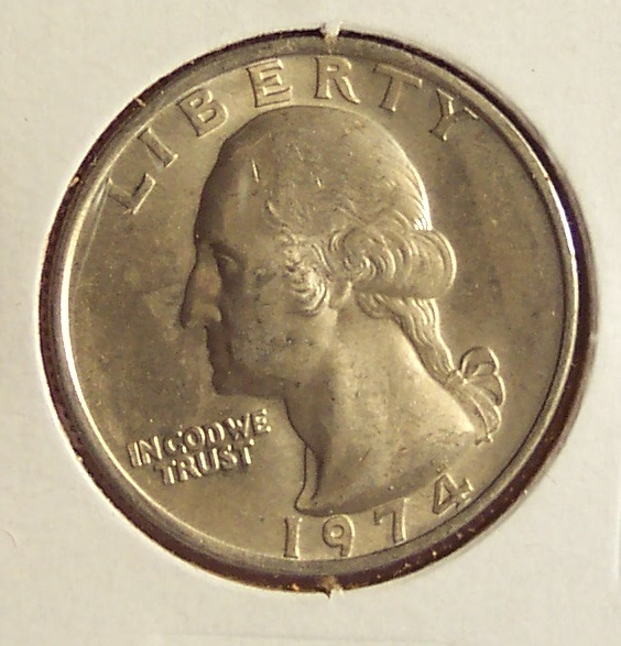 1974 Washington Quarter BU #031 image 3