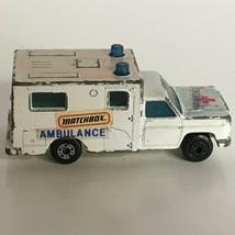 Matchbox Ambulance Paramedics Die-Cast Toy 1977 Vintage 1970's Back Doors Open - $2.99