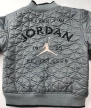 Vintage Air Jordan 1985 Flight Club Bomber Jacket Coat Rare Gray Black S... - $163.34