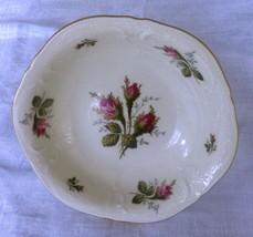"Vintage Rosenthal Moss Rose Serving Bowl 4"" diameter 2.5"" deep Classic Rose - $27.72"