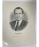 Richard Nixon Signed Autographed Vintage 8x10 Photo - $99.99