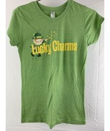 Lucky Charms Cereal Women's Green T-Shirt Size L - $12.86