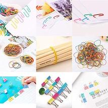 240 Pcs Assorted Colors Binder Clips, Paper Clips, Rubber Bands, Paper Clamps,Pa image 6