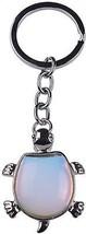 Joya Gift Jewelry Tortoise Shape Keyring Natural Opal Gemstone Pendant ... - $22.37
