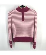 .Tommy Hilfiger XL Sweater Womens Pink Knit Striped 1/4 Zip - $12.83