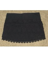 NWT Abercrombie & Fitch Navy Ruffle Lace Skirt Size S Small - $54.11