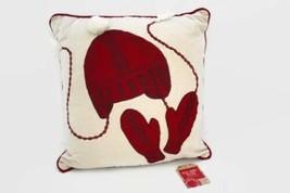 "Martha Stewart Keep Warm Mittens Decorative Pillow Winter 18"" x 18"" - $24.74"