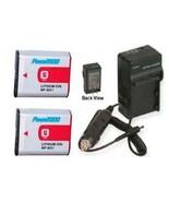 Two Batteries + Charger for Sony DSC-HX7 DSC-HX9 DSC-N1 DSC-N2 DSC-T20 D... - $48.56