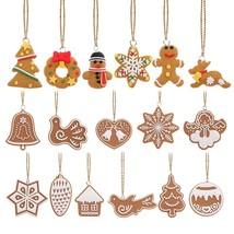 17Pcs/Lot Cartoon Animal Snowflake Biscuits Hanging Christmas Tree Ornam... - $20.00
