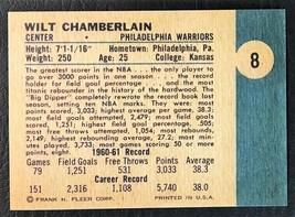 1961-62 Fleer #8 Wilt Chamberlain Rookie Reprint - MINT - Philadelphia W... - $1.98