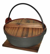 JapanBargain S-1802, Cast Iron Shabu Shabu Pot Sukiyaki Nabe, 6-inch - $25.97