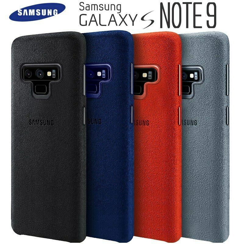 Samsung Note 9 Case Luxury Original Genuine Suede Leather Fitted Protector Case