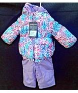Toddler Girls 12mo NEW Jacket Bib Snow Pant Set ZeroXposur Baby Pastels - $34.65
