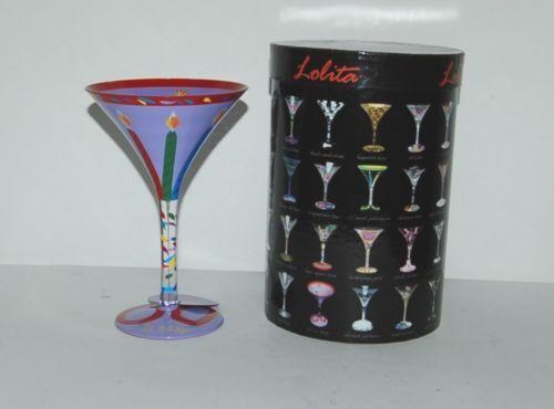 Santa Barbara Design Lolita Sixty is Sexy Martini Glass Hand Painted