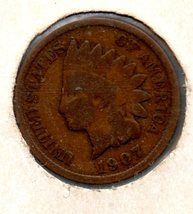1907 Indian Head Cent Circulated abt Very good - $8.99