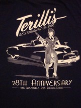 Terilli's Restaurant  Bar & Grill Dallas Texas Food Anniversary T Shirt L - $14.84