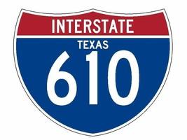 Interstate 610 Sticker R1988 Texas Highway Sign Road Sign - $1.45+