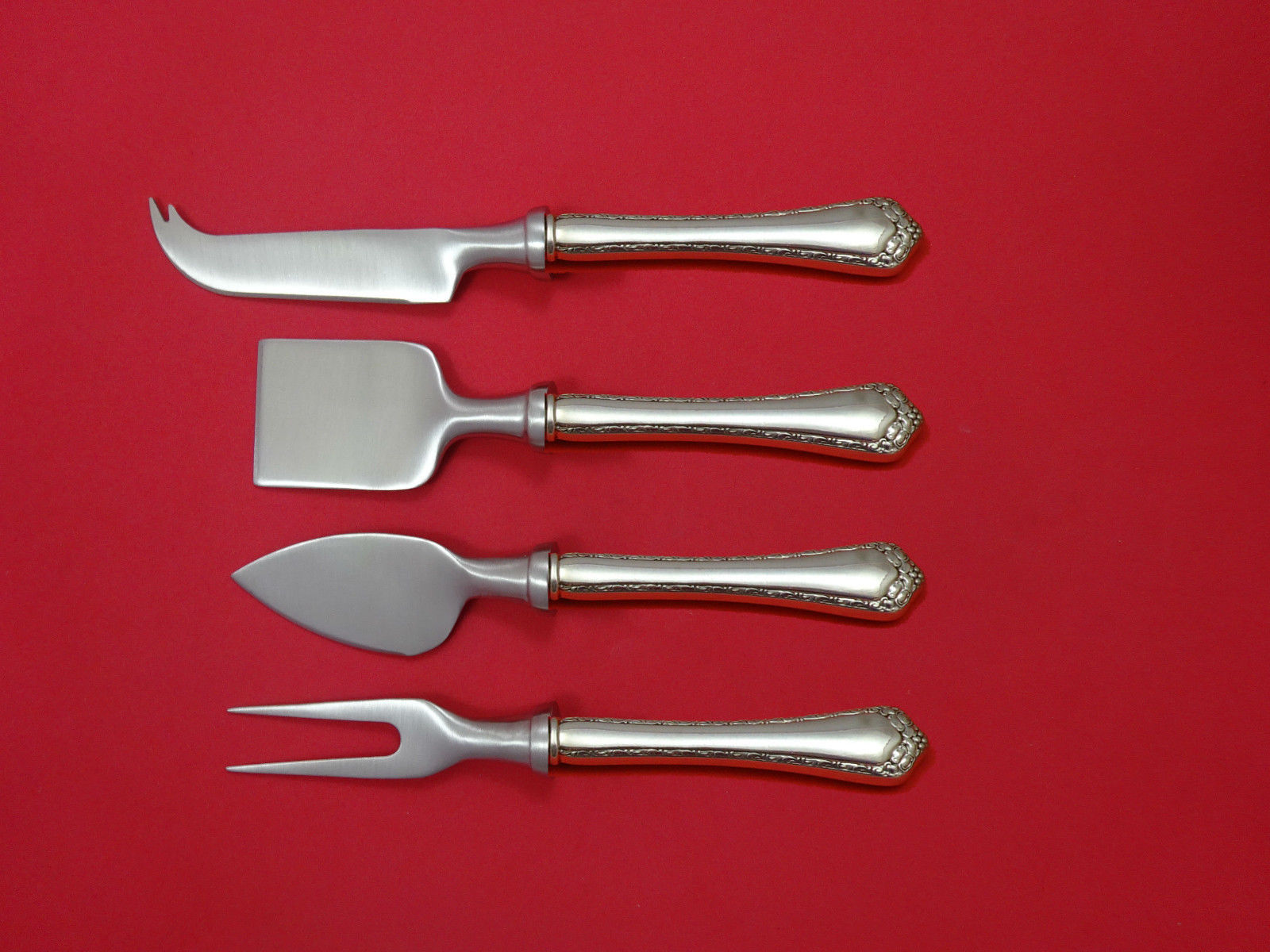 Rosemary by Easterling Sterling Silver Cheese Serving Set 4 Piece HHWS  Custom - $245.65