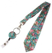 Classic Floral Design Retractable 24 Inch Neck Lanyard,Strap Name/ID Ba... - $25.38
