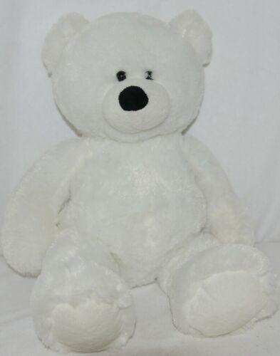 Ganz White Seventeen Inch Plush Teddy Bear Snowdrop HX11006