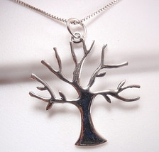 Tree of Life Necklace 925 Sterling Silver Corona Sun Jewelry forest woods glen - $24.74
