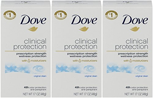 Primary image for Dove Clinical Protection Antiperspirant Deodorant, Original Clean, 1.7 Oz Pack o