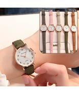 Simple Vintage Women Small Dial Watch Sweet Leather Strap Wrist Watches ... - $4.22
