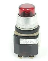 ALLEN BRADLEY 800T-PT26 PUSH BUTTON RED LENS SER. N W/ 800T-XA SER. C CONTACT image 1