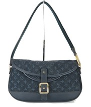 Authentic LOUIS VUITTON Marjorie Blue Monogram Mini Lin Shoulder Bag #34709 - $399.00