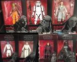Star Wars Black Series Wave 12 Case Last Jedi IN STOCK 8 figures Mint 2017 MIB