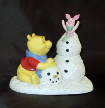 Disney Pooh Piglet Snowman Frosty Sort Of Fun Precious Moments Winnie NWOB - $74.24