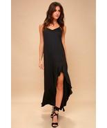 Stunning Billabong Kick It Up Black Maxi Beach Babe Dress - Small - $40.00