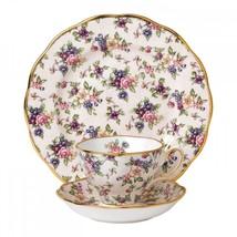Royal Albert 100 Years 1940 English Chintz Setting SET TEA CUP SAUCER PL... - $93.49