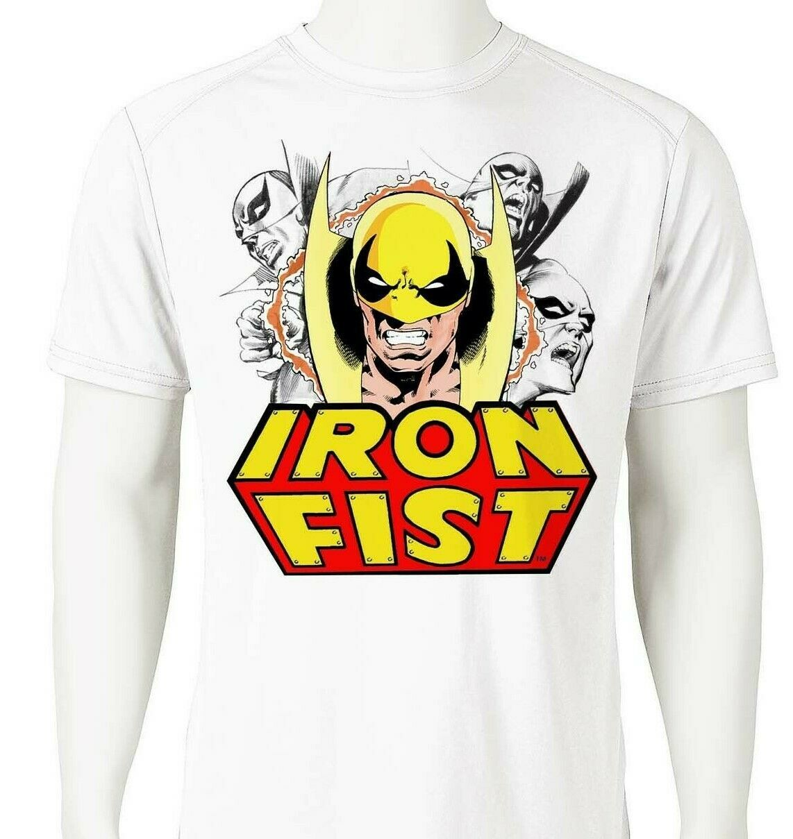 Iron Fist 2 Dri Fit T-shirt printed active wear retro comic UPF +50 Sun Shirt