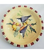 Lenox Winter Greetings Salad Plate Nuthatch Catherine McClung Christmas ... - $18.70