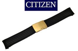 Genuine Citizen Skyhawk Watch Band BLACK Rubber Strap JY0006-06E gold bu... - $110.95